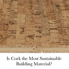 Learn a little bit more about using Cork as a home building material.