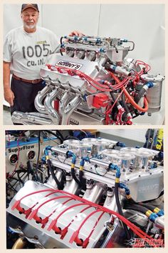 """The """"Godfather"""" motor by Sonnys. 1,005.8ci behemoth with an unreal 5.220-inch bore and a 5.875-inch stroke. 2,150 hp at 8,000 rpm and 1,500 lb-ft of torque at 6,200 rpm on 112-octane fuel. That's naturally aspirated, by the way."""