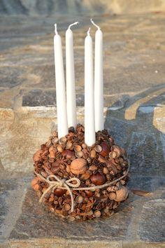 advent / candlestick / ball / acorn / chestnut /  coffee / cinnamon / wallnut / anisum