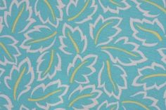 Robert Allen Baja Leaves Printed Polyester Outdoor Fabric in Turquoise $8.95 per yard