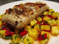 Barbequed Barramundi with Pineapple Salsa recipe! Healthy and tasty seafood recipe! To see more healthy and sustainable recipes using Australis Barramundi, check out our website here: http://www.thebetterfish.com/