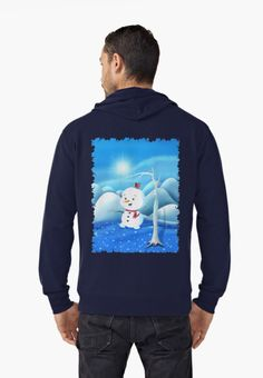 'Snowbaby on Sparkling Ice' Lightweight Hoodie by We ~ Ivy Graphic Shirts, Graphic Sweatshirt, Presents For Friends, My Themes, Good Cause, Sparkling Ice, Hoodies, Sweatshirts, French Terry