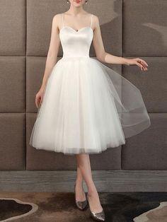 Sweetheart Wedding Dress, New Wedding Dresses, Elegant Wedding Dress, Cheap Wedding Dress, Bridal Dresses, Tea Length Dresses, Spring Dresses, Wedding Bridesmaids, Women's Fashion Dresses