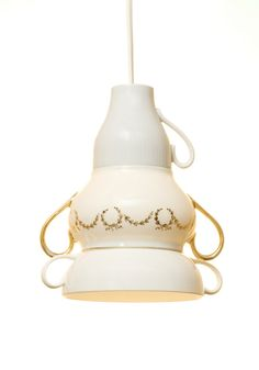 Recycled Porcelain Lamp Shade