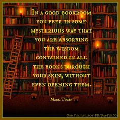 In a good bookroom...
