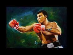 Muhammad Ali timelapse oil painting