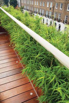 garten dachterrasse modernem bambus