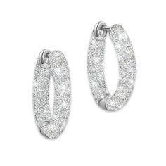 "Love's Whisper with ""I Love You"" engraved Diamond Earrings"