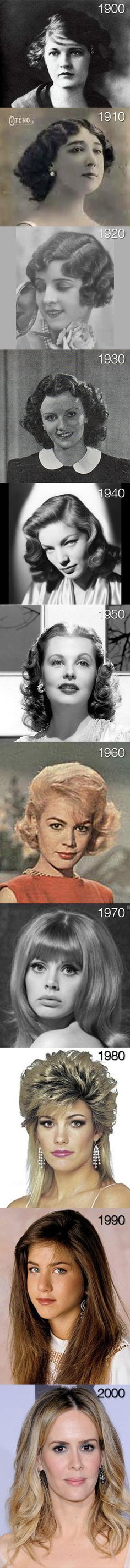 evolution of womens hair during the decades