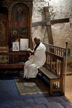 Inside a Ethiopian Orthodox monastery