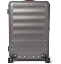 FABBRICA PELLETTERIE MILANO Spinner 68cm Leather-Trimmed Aluminium Suitcase. #fabbricapelletteriemilano #bags #leather #travel bags #suitcase #