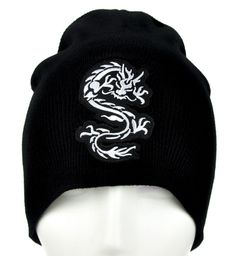 - Martial Arts Asian Dragon Beanie Knit Cap - High Quality Material - Acrylic / Cotton / Polyester - One size fits most! - Beanie cap to keep you warm and looking cool!