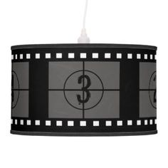 Film Strip Movie Reel Ceiling Lamps
