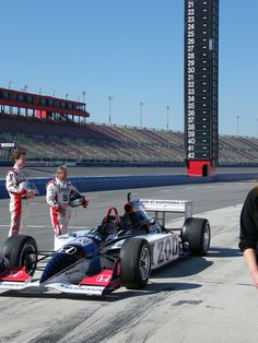 """Mario Andretti shoots the next scense for the 2011 Honda """"Backseat Driver"""" IZOD two-seater commercial at Auto Club Speedway in Fontana, CA."""