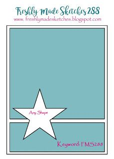 cardmaking design sketch ... Freshly Made Sketches #288 ... clean and simple ....