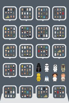 Star Wars Characters iPhone 4 icon frame wallpaper