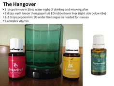 The Hangover : How to get over your hang over with Young Living Essential Oils. Lemon, Grapefruit and Peppermint