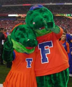 UNIVERSITY OF FLORIDA  Meet Albert and Alberta, UF's Gator mascots! - Michelle, it's your day!!