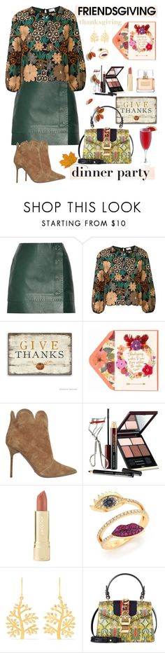 """""""Friendsgiving"""" by ellie366 ❤ liked on Polyvore featuring Thierry Mugler, RED Valentino, Burberry, Kevyn Aucoin, Axiology, Delfina Delettrez, Pippa Small, Gucci, Givenchy and embroidered"""