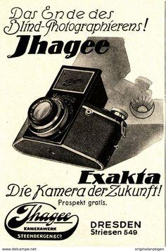 Original-Werbung/ Anzeige 1933 - IHAGEE EXAKTA KAMERA - DRESDEN - Ca. 65 X 100 Mm - Werbung