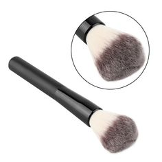 1pc face makeup brush set powder blush contour foundation flat top brush for face cosmetics powder brush black