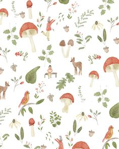 Fairytale in Forest Pattern by chotnelle