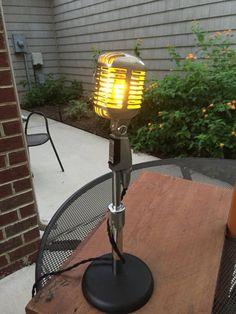 Vintage Shure 55 Microphone Lamp | Etsy