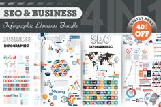 40% OFF Infographic Bundle by Infographic Paradise on @creativemarket