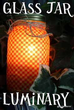 Supplies For Your Glass Jar Light:  32 Oz. Legacy Canning Jar Glass Marbles Washi Tape (in a variety of designs) Candle Raffia or rustic twine