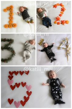 13 kreative monatliche Baby-Foto-Ideen - Sport und Frauen - Money saving tips - Monthly Baby Photos, Baby Boy Photos, Fall Baby Pictures, Baby Monat Für Monat, Baby Dekor, Milestone Pictures, Newborn Schedule, Foto Baby, Newborn Baby Photography