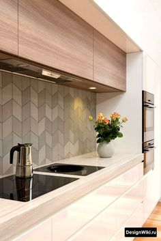 Marvelous Kitchen Backsplash Remodel Ideas - Page 26 of 104 Kitchen Room Design, Modern Kitchen Design, Kitchen Interior, Kitchen Decor, Interior Rugs, Apartment Interior, Bedroom Apartment, Kitchen Hacks, Kitchen Designs