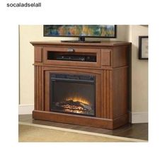 Electric Fireplace Media Center Tv Stand Corner Entertainment With Heater Combo