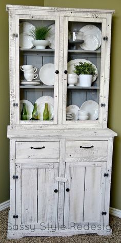 Sassy Style: DIY Barnwood Hutch Makeover with Annie Sloan Chalk Paint This.