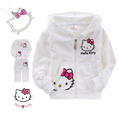 Hello Kitty Winter Tracksuits & Rhinestone Necklace