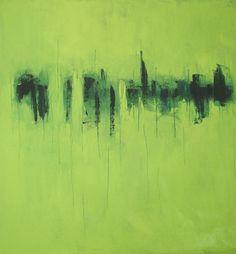 """Spring (2007, oil on canvas, 30 x 28 x 1.5"""") /  STEPHANIE HOFF CLAYTON"""
