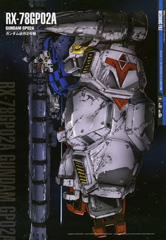 "The RX-78GP02A Gundam ""Physalis"" (aka ""Physalis"" , GP02A) is the second of four mobile suits in the Gundam Development Project and featured in Mobile Suit Gundam 0083: Stardust Memory. It originally belonged to Earth Federation until it was stolen and piloted by Delaz Fleet's ace pilot, Anavel Gato."