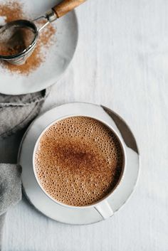almond chia seed hot chocolate
