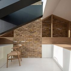 *다락방 리모델링 Con Form Architects opens up loft with a glass and steel dormer Direct Wood Flooring, Steel Cladding, Architects London, Dormer Windows, Residential Architect, Steel Beams, Hip Roof, Bright Homes, Attic Spaces