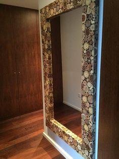 Espelho em madeiras Naturais !Amazing art wood slices mirror ! marcoartlife@gmail.com