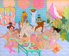 Juxtapoz Magazine - Kristen Liu-Wong: Underworld Pool Party