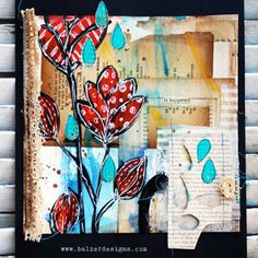 Idea for a texture collage shadow box lesson