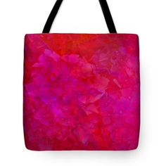 Red Tote Bag featuring the photograph Hydrangeas On Red by Nareeta Martin
