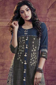 Glorious multicolor designer long kurti
