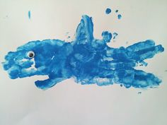 Kids Animal Handprint Art - Shark