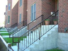 Stair Railings - Custom Built Stair Guardrails and Adjustable Stair Panels Stair Railing Parts, Railings, Stair Paneling, Street Dance, Walkway, Exterior Design, Stairs, Building, Image