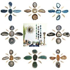 Mod B O H O Agate Garlands! Only a few left! Can be hung on the wall or laid flat for your coffee table #versatile