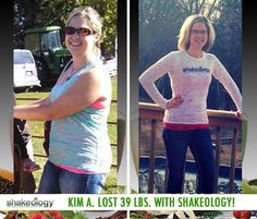 """Kim A. lost 39 lbs. while drinking Shakeology and working out with Turbo Jam, Turbo Fire, and 21 Day Fix!   """"Shakeology has changed my life completely. It has increased my energy levels so I can teach all day and play with my kids for hours after school!"""""""