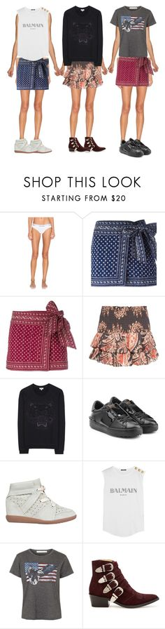 """""""x3"""" by cc-gg ❤ liked on Polyvore featuring Calvin Klein Underwear, Étoile Isabel Marant, Kenzo, Valentino, Isabel Marant, Balmain, Project Social T and Toga"""