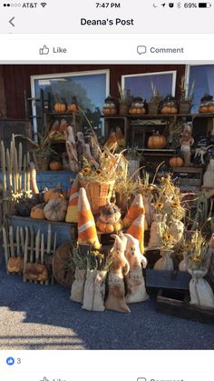 Primitive Fall Crafts, Americana Crafts, Primitive Pumpkin, Pumpkin Crafts, Vintage Halloween, Fall Halloween, Halloween Crafts, Craft Booth Displays, Display Ideas