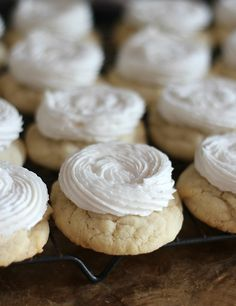 Perfect Soft Sugar Cookies with fluffy frosting!!!